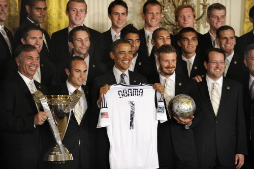 Obama honors MLS champ LA Galaxy