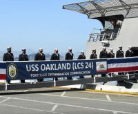 Navy commissions littoral combat ship USS Oakland