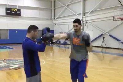 UFC's Weidman training Knicks' Kanter, calls out LeBron