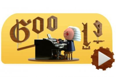 Google honors composer Johann Sebastian Bach with musical Doodle