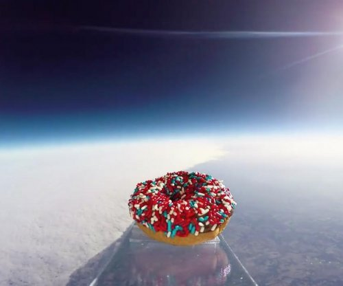 Donut launched 97,000 feet into space on display at Kansas City shop