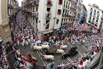 Three people injured during Running of the Bulls in Spain