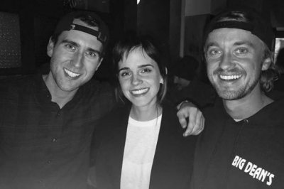 'Harry Potter' stars Tom Felton, Emma Watson reunite