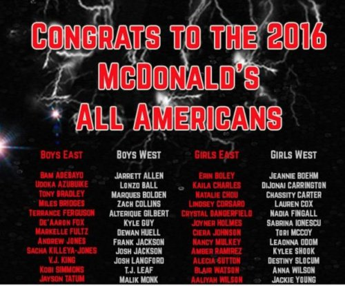 Kentucky tops schools with four McDonald's All-Americans