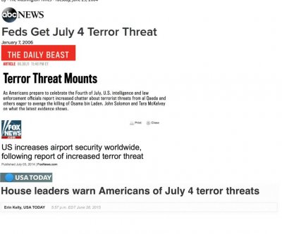 July 4 terror threats an annual but necessary ritual, experts say