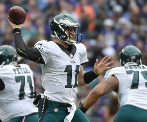 Philadellphia Eagles' Carson Wentz returns after head injury