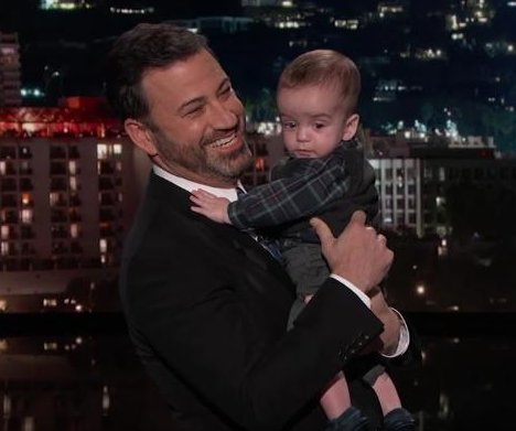 Jimmy Kimmel's son appears on TV after second heart surgery