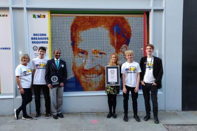 Rubik's Cube mosaic of Prince Harry's face breaks Guinness record