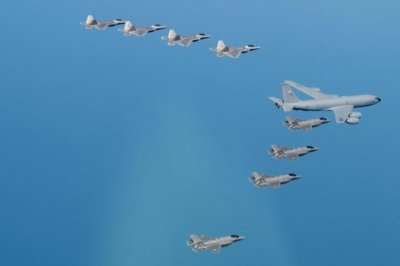 USAF F-22s participate in interoperability exercises with Japanese forces