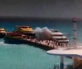At least 25 injured after explosion on ferry in Mexico