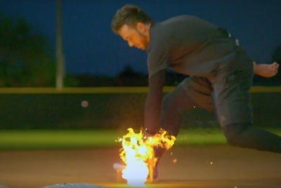 Chicago Cubs' Kris Bryant fields flaming grounders for Red Bull