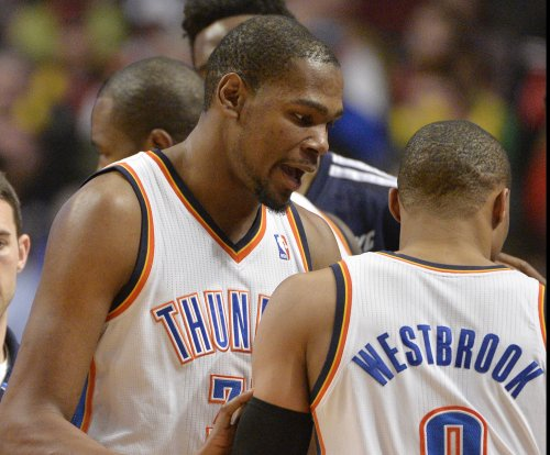Westbrook, Durant combine to lead Thunder to 2OT win over Magic