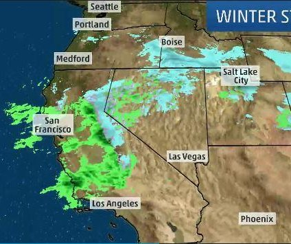 Winter storms in the western U.S. could bring up to 15 feet of snow to California