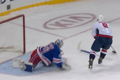 Capitals' Alex Ovechkin wins shootout with bizarre goal vs. Rangers