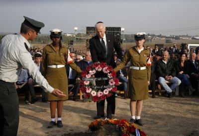 Vice President Joe Biden eulogizes Ariel Sharon at state funeral
