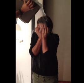 Jennifer Aniston takes the ALS Ice Bucket Challenge with help from Justin Theroux
