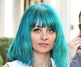 Nicole Richie rocks turquoise hair for photo shoot