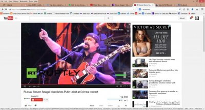 Actor Steven Seagal plays Russian biker festival in Crimea