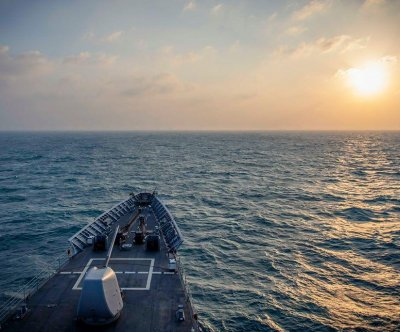 USS Chancellorsville sails through Taiwan Strait