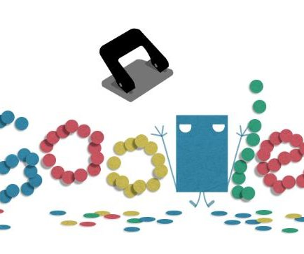 Google celebrates the invention of the hole puncher with a new Doodle