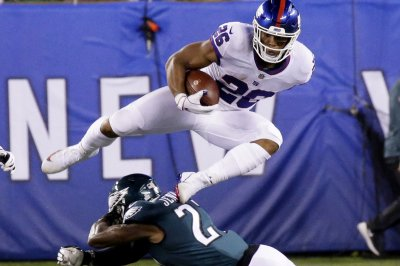 Giants' Saquon Barkley shows off full arsenal on one run