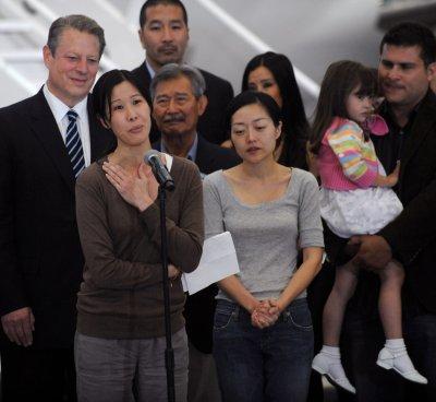 Reporters crossed into N. Korea, sis says