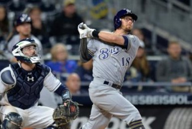 Red-hot Eric Sogard guides Milwaukee Brewers past San Diego Padres