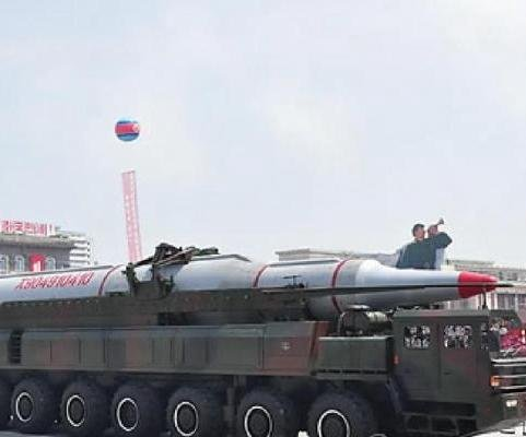 North Korea stages huge military parade, flexes military muscle against U.S.