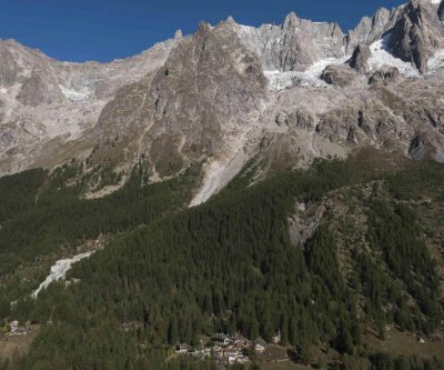 Authorities evacuate homes near melting glacier in Italian Alps