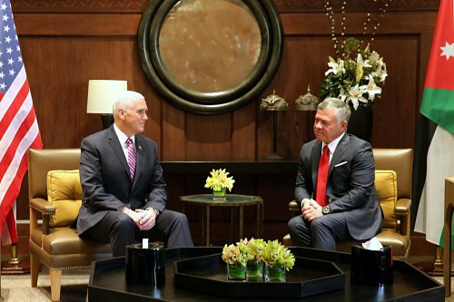 Jordan's king urges Pence to rebuild trust in Middle East