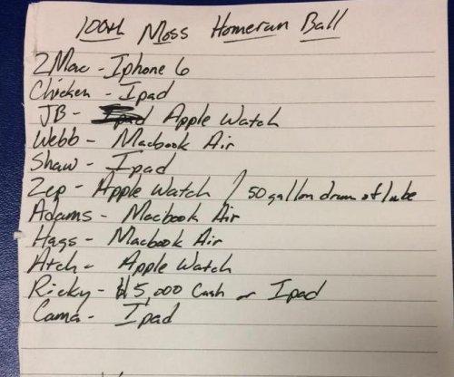 Cleveland Indians bullpen holds Moss' home run for ransom