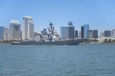 USS Stethem arrives at new home port in San Diego