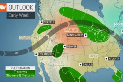 Thunderstorms to rumble around 'ring of fire' this week