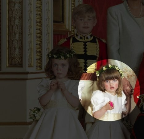'Wiggly worm' in royal wedding pictures