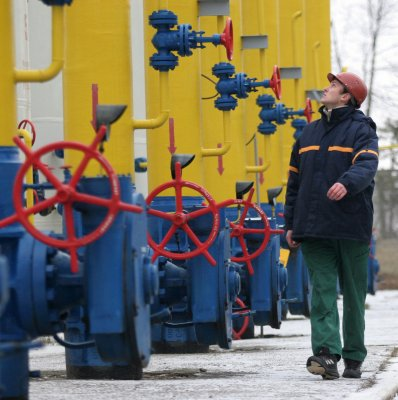 Gazprom sending gas through Ukraine