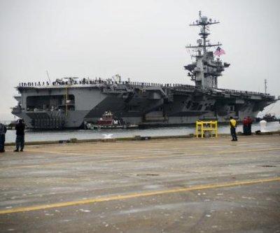 Watch: New radar tower installed on USS George Washington