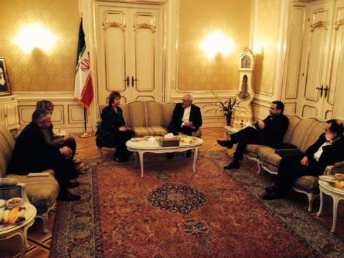 Javad Zarif meets with E.U. foreign policy chief ahead of Iran nuclear talks