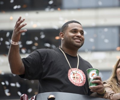 Boston Red Sox 3B Pablo Sandoval hit on forearm, exits game
