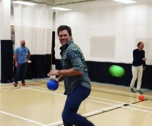 Tom Brady plays dodgeball with Gisele, gets mom out