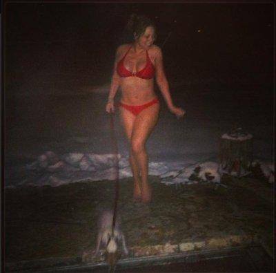 Mariah Carey walks dog in her underwear during Aspen vacation