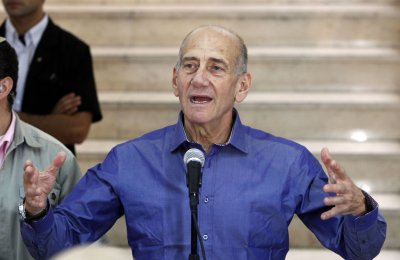 Former Israel P.M. Olmert convicted of bribe-taking