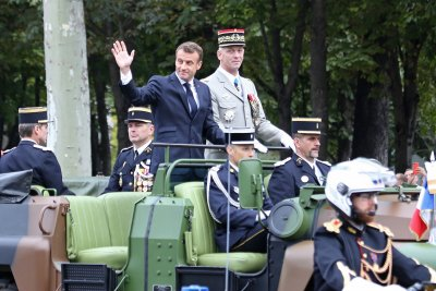 Emmanuel Macron calls for united European defense in Bastille Day speech