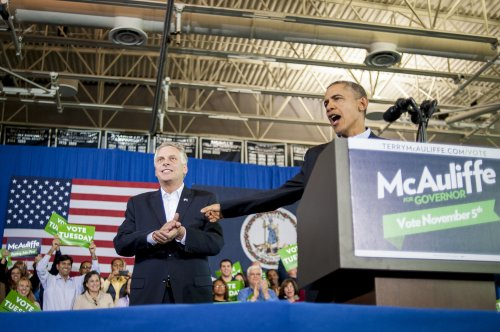 Obama stumps for McAuliffe in Virginia