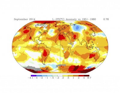NASA says September was warmest on record since 1880