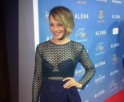 Rachel McAdams stuns in mesh top at 'Aloha' premiere