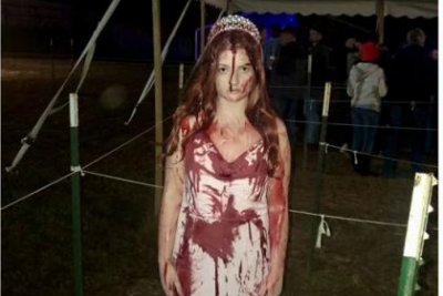 Driver in Ohio crash startles first responders with 'Carrie' costume
