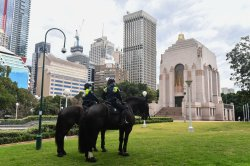 Police presence deters Sydney's anti-COVID-19 lockdown protest