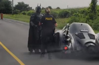 'Batman' driving Batmobile pulled over on Ontario road