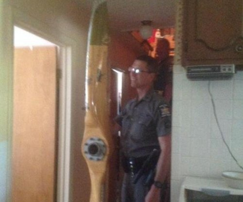 Plane propeller rips through roof in upstate New York