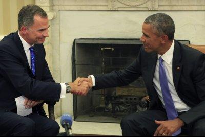 Obama talks terrorism, migrant crisis with Spanish king during White House visit